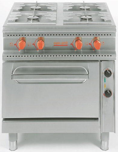 4 Flammen Gasherd +Elektroherd Anschlusswert: 4 5kW 380-420V - Produkt - Gastrowold-24 - Ihr Onlineshop für Gastronomiebedarf