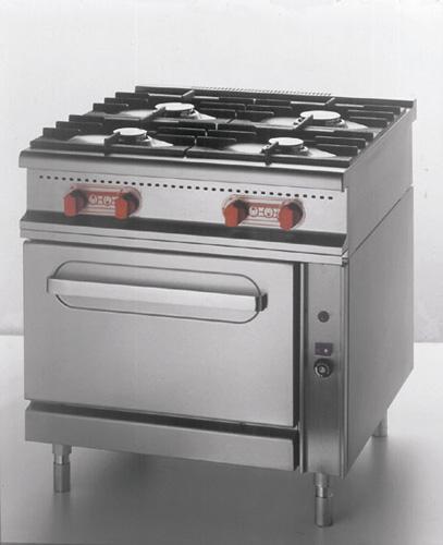 4-Flammen-Gasherd +Gasbackrohr 2 x 3 5 + 2 x 5 5 + 7 = 25kW - Produkt - Gastrowold-24 - Ihr Onlineshop für Gastronomiebedarf
