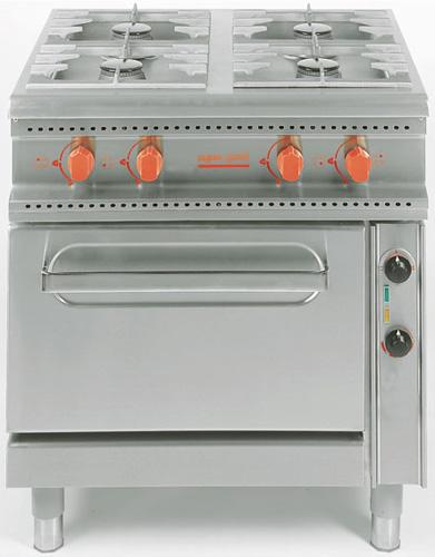 4-Flammen Gasherd offener Unterbau NWB:3x5 4 + 1x3 5=20kW - Produkt - Gastrowold-24 - Ihr Onlineshop für Gastronomiebedarf
