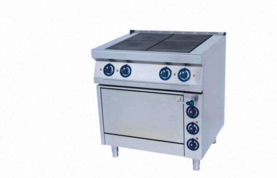 4-Platten Elektroherd mit Elektro-Backrohr - Produkt - Gastrowold-24 - Ihr Onlineshop für Gastronomiebedarf
