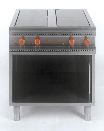 4 Plattenherd offener Unterbau Anschluss.4x2 5=10kW 380-420V - Produkt - Gastrowold-24 - Ihr Onlineshop für Gastronomiebedarf