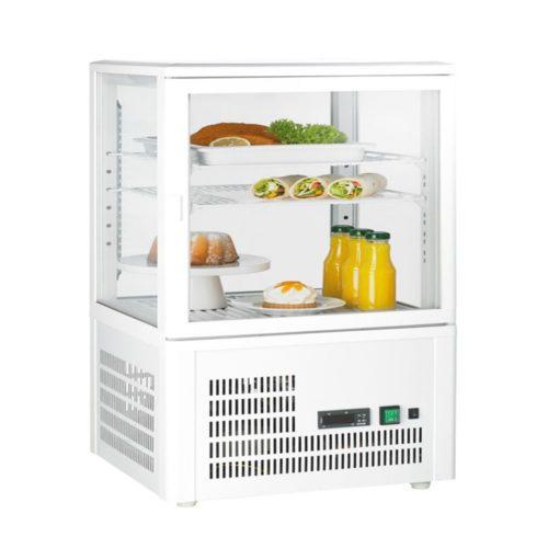 Aufsatzgetränkekühler, weiß, 428x386x846 mm, 58 Liter, - GGG