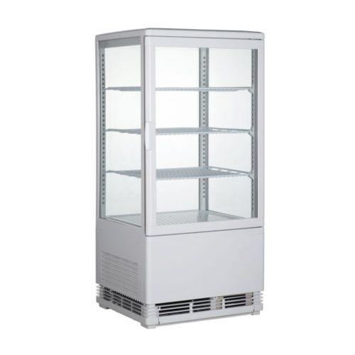 Aufsatzgetränkekühler, 428x386x885 mm, 68 Liter, weiß, - GGG