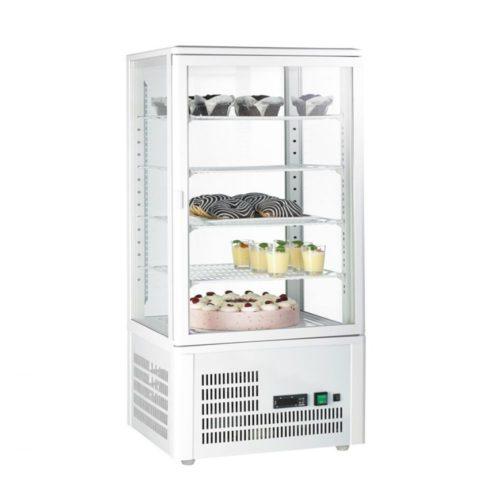 Aufsatzgetränkekühler, weiß, 428x386x1150mm, 98 Liter - GGG