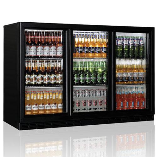 Barkühlschrank mit 3 Glasflügeltüren