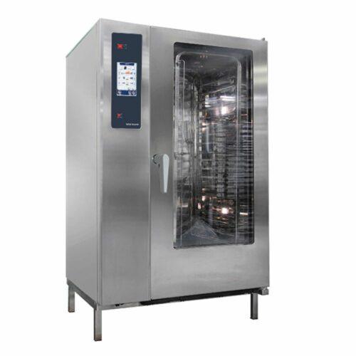 Gas-Kombidämpfer mit Boiler und automatischem Reinigungssystem