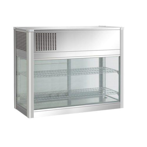 Kühl-Schauvitrine 160 L, 805x410x940 mm, 3 °C - 8 °C, - GGG