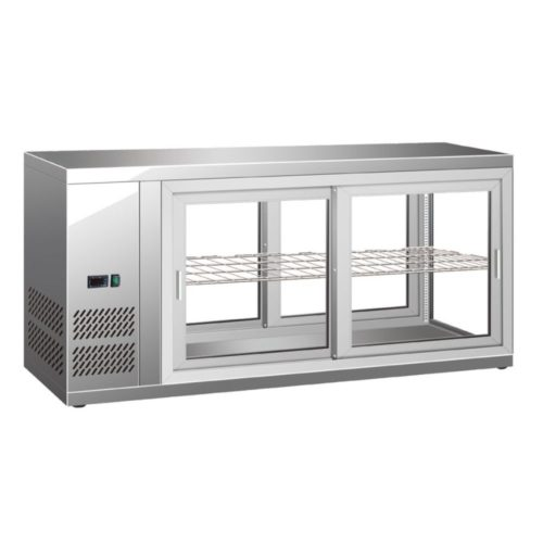 Kühl-Schauvitrine, 110 L, 910x510x550 mm, - GGG