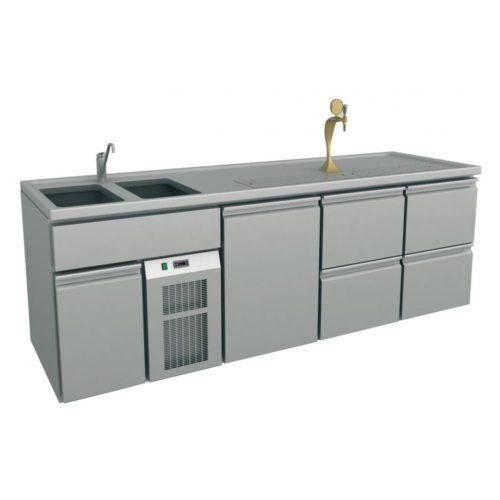 Ausschanktheke, 2500x700x930 mm Umluftkühlung, 400 W, - GGG