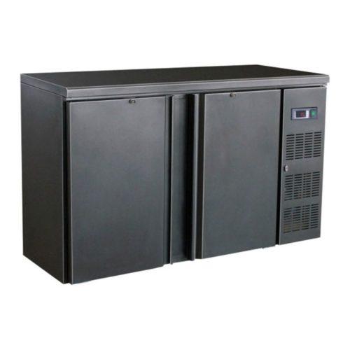 Flaschenkühltisch, schwarz, 1462x513x860 mm,  350 L / 250 L, - GGG