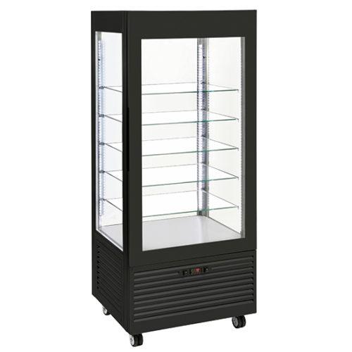Tiefkühlvitrine mit Umluftkühlung und 5 quadratischen Glasböden