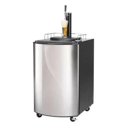 Bierkühler, 515x665x815 mm, 128 Liter, Edelstahltür, - GGG