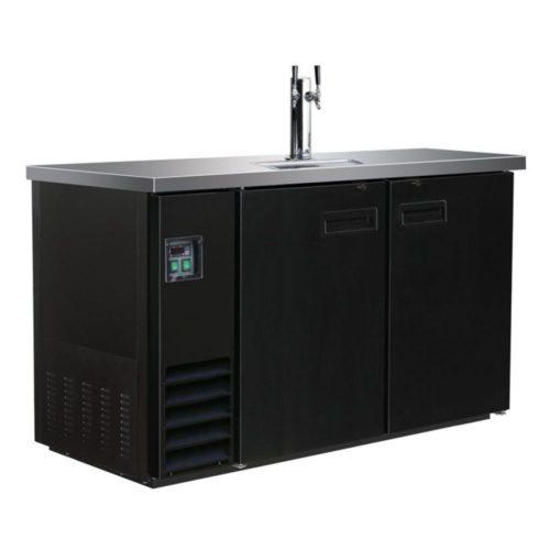 Ausschanktheke, 1247x620x1060 mm, schwarz, 1 Zapfhahn, 346 L - GGG