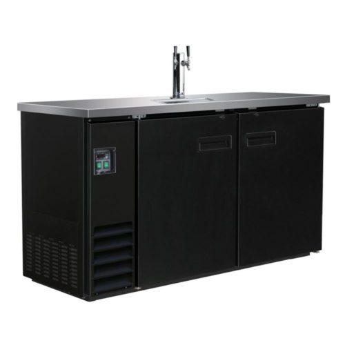 Ausschanktheke, 1552x620x1060 mm, schwarz, 1 Zapfhahn, 462 L - GGG