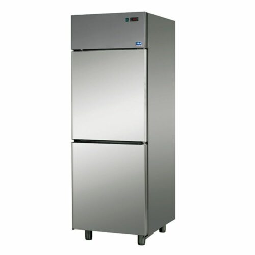 Tiefkühlschrank 600 Liter aus Edelstahl mit 2 Türen
