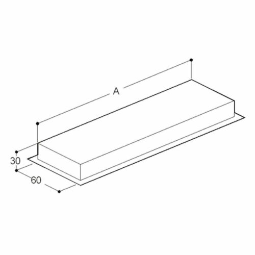 Sammelkammer für Verbindung von Doppelabsaugen für 1600 mm
