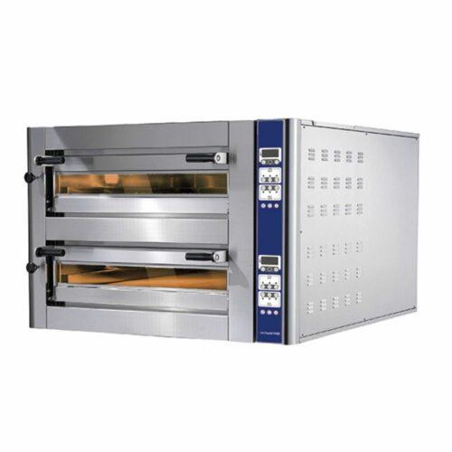 Elektro-Pizzaofen für 9+9 Pizzen ø 350 mm