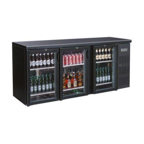 Flaschenkühltisch, 2002x513x860 mm, schwarz, 536.5 L, - GGG