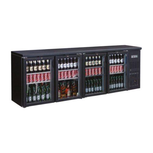 Flaschenkühltisch, 2542x513x860 mm, schwarz, 698.3 L, - GGG