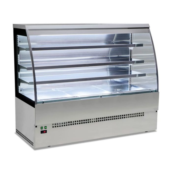 Kühltheke für Selbstbedienung, komplett aus Edelstahl, - GGG