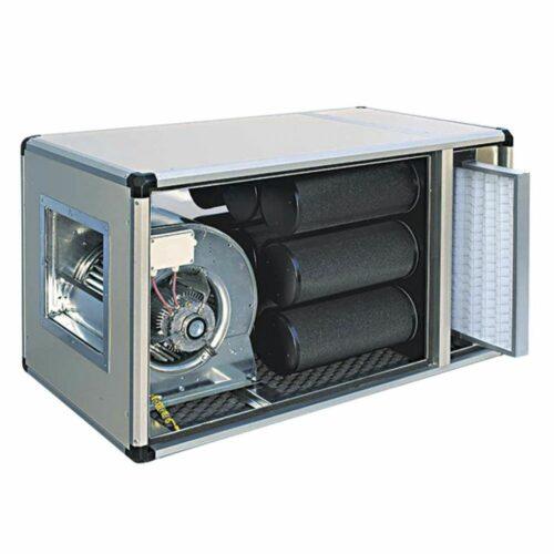 Abluftreinigungs- und Desodorierungsanlage mit Direktmotor