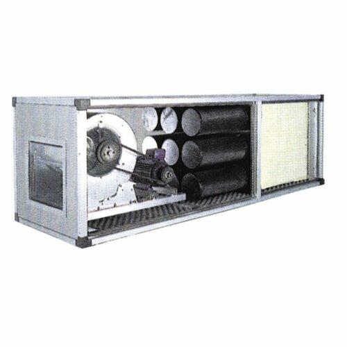 Abluftreinigungs- und Desodorierungsanlage mit Antriebsmotor