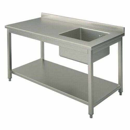 Arbeitstisch mit Becken rechts