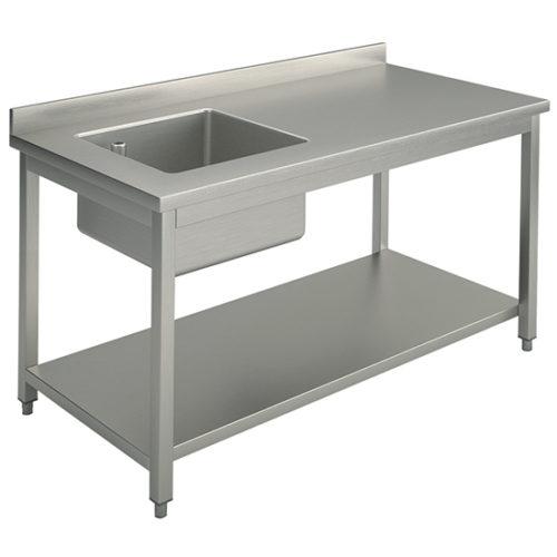 Arbeitstisch mit Becken links