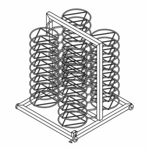 Tellerstapelstruktur für Wagen