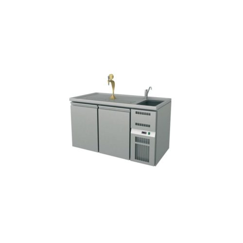 Ausschanktheke 1550x700x930 mm, Umluftkühlung, - GGG