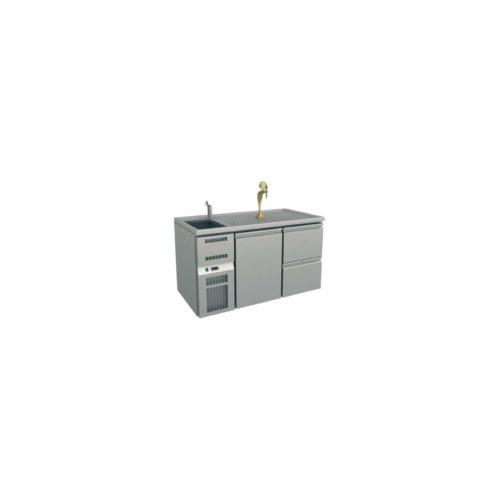 Ausschanktheke 1550x700x930 mm, Umluftkühlung, 1 Tür für - GGG