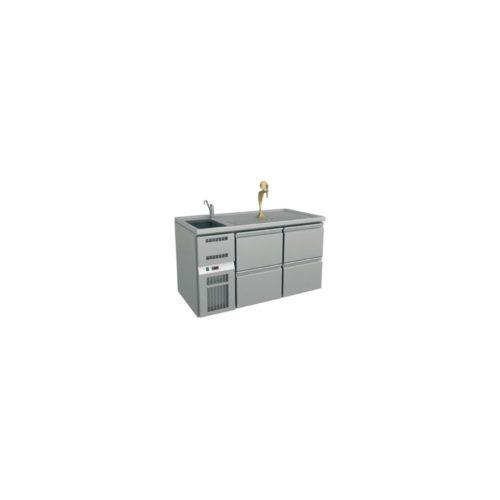 Ausschanktheke 1550x700x930 mm, Umluftkühlung, 350 W, - GGG
