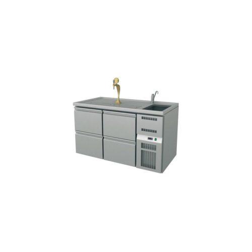Ausschanktheke, 1550x700x930 mm, Umluftkühlung, - GGG
