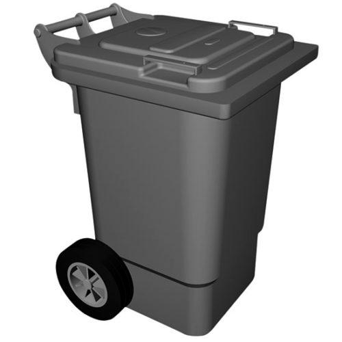 Abfalleimer auf Rädern