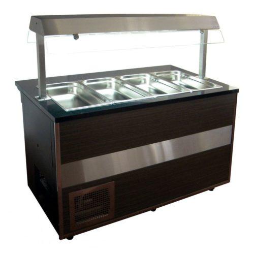 Salattheke 2000x800x1250 mm, 5 x 1/1 GN, 1 x 2/4GN - GGG