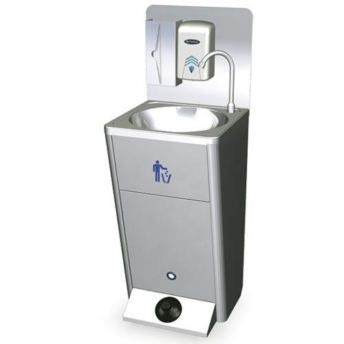 mobiles Handwaschbecken mit Fußbedienung