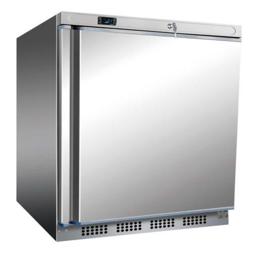 Edelstahl Kühlschrank, 600x585x855 mm, 200 L / 78 L, - GGG