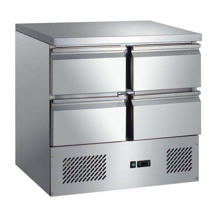 Kühltisch, 903x700x850 mm, 240 L / 130 L, - GGG
