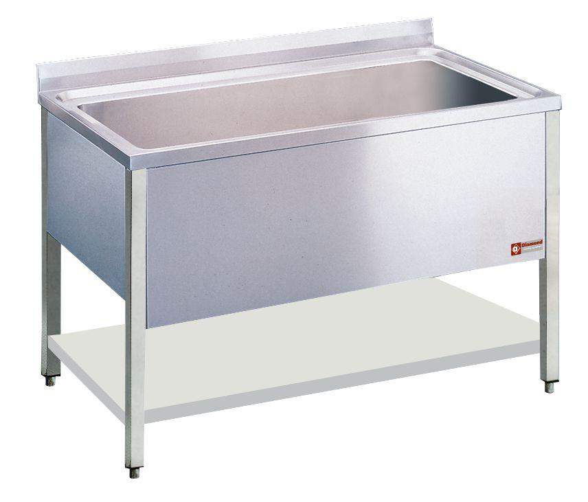 SPÜLTISCH 1 BECKEN 1060x500xh400 MM - MAXI