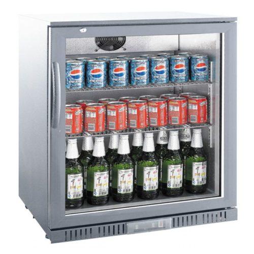 Flaschenkühler, 138 Liter, 600x520x900 mm, mit Glastür, - GGG