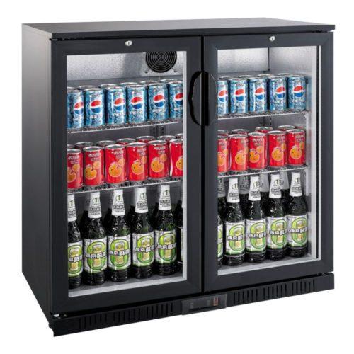 Flaschenkühler, 208 Liter, 900x520x900 mm, 2 Glastüren, - GGG