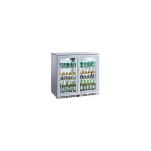 Flaschenkühlschrank, 208 Liter, 900x520x900 mm, silber, - GGG