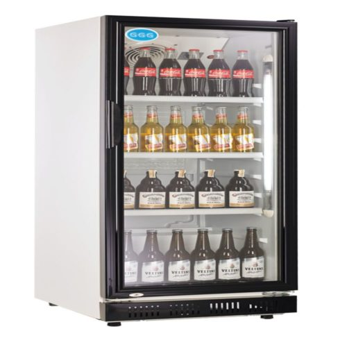 Flaschenkühlschrank, 230 Liter, schwarz, 530x635x1442 mm - GGG