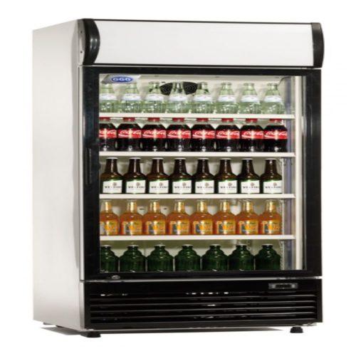 Flaschenkühlschrank, 300 / 283 L, 620x595x1845 mm, Glastür, - GGG