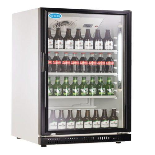 Flaschenkühlschrank, 310 Liter, schwarz, 620x635x1562 mm, - GGG