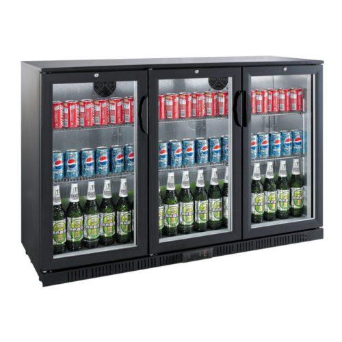 Flaschenkühlschrank, 1350x520x900 mm, 330 L, schwarz, - GGG