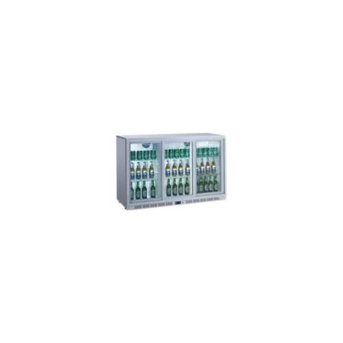 Flaschenkühlschrank, 1350x520x900 mm, 330 L, silber, - GGG