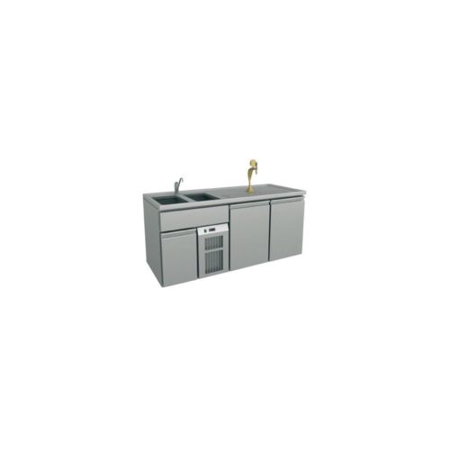 Ausschanktheke 1950x700x930 mm, Umluftkühlung, 350 W - GGG