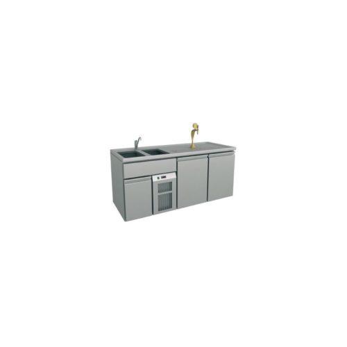 Ausschanktheke 1950x700x930 mm, Umluftkühlung, - GGG