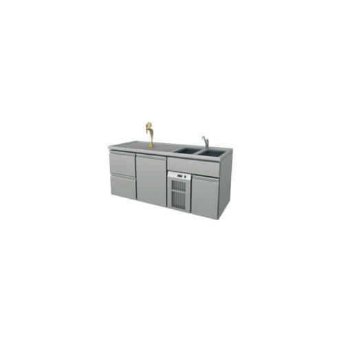 Ausschanktheke 1950x700x920 mm, Umluftkühlung, 400 W, - GGG